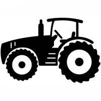 Wholesale car tractors resale online - Cartton style vivid tractor pattern for laptop car sticker CA