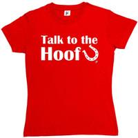 huf stil großhandel-Sprechen Sie mit dem Freund der Huf-Hufeisen-Frauen-Sitz-T-Shirt-Art-Art-runden Artt-shirt T-Stücke kundenspezifisches Jersey-T-Shirt