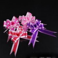 Wholesale wedding car ribbons resale online - wedding decoration pull bow flower ribbon bow gift box wrapping wedding car room decoration celebration prom ornament