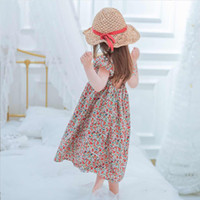 Wholesale beautiful party dresses for children resale online - Girls Floral Dress Summer Princess Clothing Flower Costume Kids Baby Child Party Holiday Beautiful Dresses For Girl Clothes y