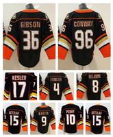 ingrosso mens xl top hockey su ghiaccio-Top Anaheim Ducks 4 FOWLER 8 SELANNE 15 GETXLAF 17 KESLER 10 PERRY Top in maglia da hockey, uomo Outdoor Sport atletici Allenamento Hockey su ghiaccio Wear