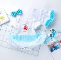 ingrosso caldo bodysuit-DHL 2019 Baby infant vestiti Pasqua Abiti La mia prima gonna tutu di Pasqua Tuta + scarpe + scaldamuscoli + Fascia 4 pezzi / set Hotsale