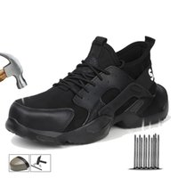 Wholesale Men Safety Shoes Boots Steel Toe Puncture Proof Work Sneakers Breathable Boots Men Shoes Indestructible Work Safety Boots