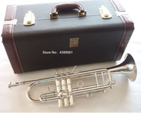 Wholesale instrument trumpet silver resale online - New Arrival Bach LT180S Bb Small Trumpet Silver Golden Key Professional Music Instruments with case