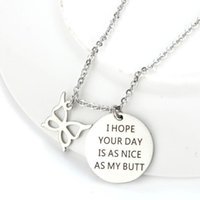 Wholesale butt plate resale online - I Hope Your Day is As Nice As Your Butt Necklace Couple Gifts Pendant I Love You Wife Husband Gifts