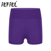 Wholesale bottoms boys clothing kids resale online - iEFiEL Kid Girls Boy cut High Waist Activewear Ballet Dance Shorts Bottoms for Yoga Sports Workout Gym Exercise Dancing Clothes
