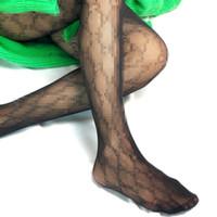 модные колготки девушки оптовых-Мода G письмо колготки чулки сексуальные женщины колготки тонкий ажурные для девочек вышивка колготки высокое качество