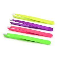 Wholesale hair removal clip resale online - 1pcs Eyebrow Tweezers Stainless Steel Face Hair Removal Eye Brow Trimmer Eyelash Clip Cosmetic Beauty Makeup Tools RRA1159