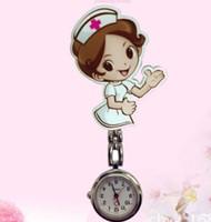 tıp doktoru klibi hemşire toptan satış-2019 Yeni Hemşire İzle Üzerinde Klip Fob Broş Cep İzle Fobwatch Hemşire Tıbbi Izle