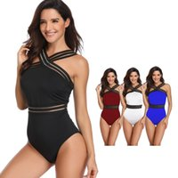 terno de treino sexy venda por atacado-Womens One Piece Suits Backless Swimsuits Controle de Tummy Sexy Swimwear Biquíni Treinamento Atlético Slimming Bathing Swim Desgaste MMA1876