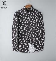 männer polka kleid hemden groihandel-Groß- und Kleinhandel Kleid Shirt für Männer Art und Weise Luxus-Mode-Qualitätskleid Polkapunkt fit Shirt Muskel-Shirts