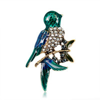 ingrosso distintivi di uccelli-All'ingrosso Bella Little Bird Pin Spilla Brooch Designer Badge metallo smalto Pin Broche Donna gioielli di lusso decorazione della festa nuziale