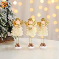 ingrosso ornamento angelo d'oro-1pc oro ornamenti per ciondolo bambola di angelo carino ornamenti creativi per albero di natale per la festa di natale per la casa regali per bambini decorazione