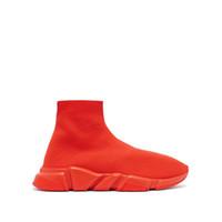 0f222febd Top Sapatos de Grife Mens Paris famosas designer de tênis com textura  branca sola Top Quality designer Meia Sapatos para mulheres tamanho 35-46