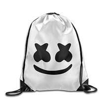 Wholesale Teenagers Outdoor Drawstring Travel Shoulder Bags DJ Marshmallow Drawstring Backpack Bag Festival Halloween Storage Bag BH1160 TQQ