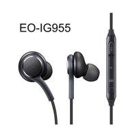 écouteurs authentiques achat en gros de-2019 nouveau casque S8 véritables écouteurs intra-auriculaires noirs EO-IG955BSEGWW écouteurs mains libres pour Samsung Galaxy S8 S8 Plus OEM écouteurs 200pcs