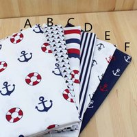 Wholesale infant linens for sale - Group buy 160cm cm navy style Sea anchor bedding cotton fabric infant bedding linens baby cloth pillow diy quilt sewing tissue tecido