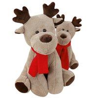 ingrosso figurine del fumetto-Cartoon elk peluche figurine di animali regalo di Natale regalo di san valentino giocattolo per bambini divano cuscino Baby comfort doll