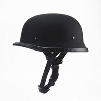 новый чоппер оптовых-Велоспорт Защитные Шлемы Новый Стиль Немецкий Мотоциклетный Шлем Половина Винтаж Чоппер Крейсер Casco DOT Утверждено