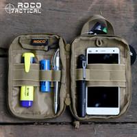 Wholesale bag tactical cordura online - ROCOTACTICAL Waterproof MOLLE Tactical Bags EDC Army Fan Sports Waist Bag Military Combat Pocket Organizer Cordura D Nylon