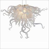 schöne elegante anhänger großhandel-Spiral Drop Kristall-Kronleuchter Treppenlichter New House Decoration Elegant Schöne Mundgeblasene Borosilikat-Pendelleuchten