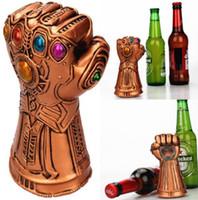 ingrosso apribottiglie di soda-Creativo multiuso Infinity Thanos Guanto di protezione guanto apribottiglie per la birra Utile strumento di rimozione tappo di vetro di soda utile per la casa
