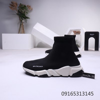 Wholesale children baby shoes sport for sale - Group buy Fashion Balenciaga Children Speed Trainer Breathable Kids Sneakers Baby boy girl Toddler Youth Sock Race Runners black Sports Shoes