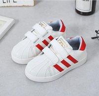erkek kızlar gündelik beyaz ayakkabılar toptan satış-2019 çocuk net ayakkabı yeni stil erkek kabuk kafa nefes net küçük beyaz ayakkabı kızlar büyük çocuklarda Baitie rahat kurulu ayakkabı