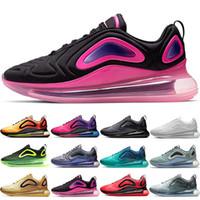 кд обувь размер мужчины пасхальные оптовых-Nike Air Max 720 Кроссовки Мужские Женщины Северное Южное Сияние Морской Лес Углеродный Серый Белый Черный Красный Желтый Открытый Спортивные Кроссовки Онлайн Продажа