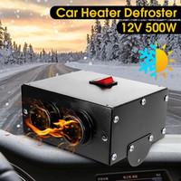 Wholesale 12v hot fan for sale - Group buy HOT Universal DC V W Car Truck Fan Heater Heating Warmer Windscreen Defroster Demister Fan Car Heater Defroster