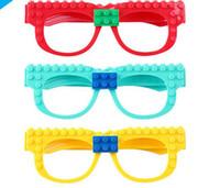 brillenbau groihandel-Kinder Brillengestell Building Blocks Kompatible Stadt Figuren DIY Ziegel pädagogisches Spielzeug Bausteine eines Brillengestell KKA7638