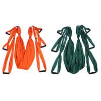 ingrosso yoga swing-Tessuto per amaca yoga anti-gravità Yoga Flying Swing Dispositivo di trazione aerea Set di amaca per yoga Attrezzatura per la modellatura del corpo pilates
