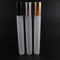 ingrosso cosmetici smerigliati-Flacone spray in vetro smerigliato 20ml Bottiglia di profumo vuota Atomizzatore Slivery Glod Fiale di profumo in vetro Contenitore cosmetico di profumo HHA505