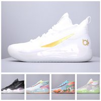 Wholesale black kd mid shoes resale online - 2019 New Hot Sale Kevin Durant Basketball Shoes Mens kd Gold Championship MVP Finals training Sneakers Sports Running Shoes Size