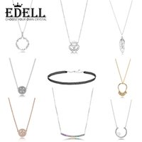 ingrosso semi di cuore-EDELL 100% Argento 925 CIRCLE OF SEEDS Shards of sparkling INTERLOCKED CROWN HEARTS FLOATING GRAINS NECKLACE