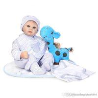 Wholesale handmade children dolls resale online - httoystore cm Handmade Reborn Silicone Baby Dolls for Girls Lifelike quot Reborn BeBe Baby Children Birthday New Year Gifts