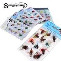 Wholesale sets saltwater lures for sale - Group buy lure Sougayilang Fly Hooks set Butterfly Style Salmon Flies Trout Single Hook Dry Fly Lure Tackle