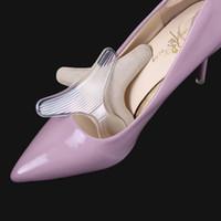 almohadillas de fricción al por mayor-Talón trasero de silicona Forro en forma de T Gel antifricción Almohadillas de cojín Plantilla Alta Danza Zapatos Grips para el cuidado del pie RRA956