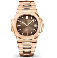 relógio automático mens ouro suíço venda por atacado-Novo 40mm Assista Homens Automático de Luxo Relógios Subiu Mens ouro Mecânica Militar Esportes designer de moda relógio suíço Relógio de Pulso relojes lujo