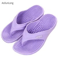 Wholesale hot massaging slippers resale online - Women Summer Massage Flip Flops Women Fashion Non slip Slides Indoor Bathroom Home Slippers EU Size Hot Flip Flops