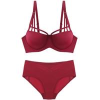 fc156b9e99 New solid plus size women s underwear sexy bra underwear set of linen ladies  push up lingerie set