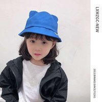 Wholesale baby bucket hats for girls resale online - High quality cotton Cute baby bucket hat baby hat YIWU factory hat for boys and girls