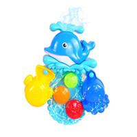 ingrosso giocattolo di caduta dell'acqua-Baby Bubble Bath Toy Bubble Dolphin Toy per bambini Acqua per Baby Shower Nuoto Giocattoli Regalo per bambini Drop shipping Vendita