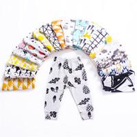 baskılı bebek çorapları toptan satış-Çocuklar Pantolon Tayt INS Bebek Gilrs Boys Sevimli Baskılı PP Sıska Pantolon Uzun Pantolon Tayt Çocuk Giyim 21 Renkler Q166