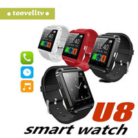 Wholesale phones screen for sale for sale – best Hot sale U8 Smartwatch Bluetooth Watch Drink Clock Passometer Touch Screen Answer and Dial the Phone with retail box iphone smart watch