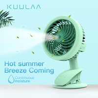 Wholesale mist spraying electric fan for sale - Group buy KUULAA Portable Water Spray Mist Fan Electric USB Rechargeable Handheld Mini Fan Cooling Air Conditioner Humidifier for Outdoor
