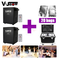 Wholesale electronic shows resale online - With Flightcase and bags Powder Stage Lighting W Mini Electronic Spray Machine Hotel Wedding Show supplies