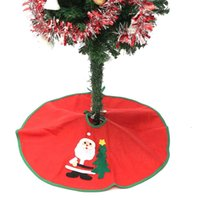 Wholesale woven christmas aprons for sale - Group buy Red Christmas Tree Skirt Santa Carpet Party Ornaments Christmas Decoration for Home Non woven Santa Tree Skirt Aprons cm