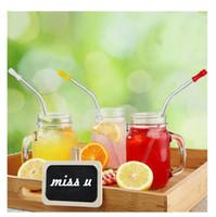 fizz drink dispenser großhandel-100PCS / LOT Silikon-Tipps Abdeckung für Edelstahl-Trinkhalm-Silikon-Strohhalme Tipps Fit für 6mm Breite Edelstahl Strohhalme OOA4805