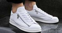 y3 черный оптовых-Новые Y-3 zip повседневная обувь мужчины женщины высокое качество Y3 черный белый зеленый кроссовки классические кроссовки Размер Eur 36-44